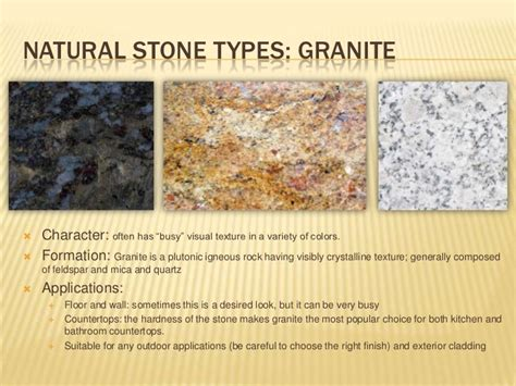 Types Of Kitchen Design Natural Stone Application For Interiors