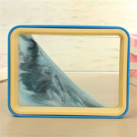 moving sand picture frame glass picture home office