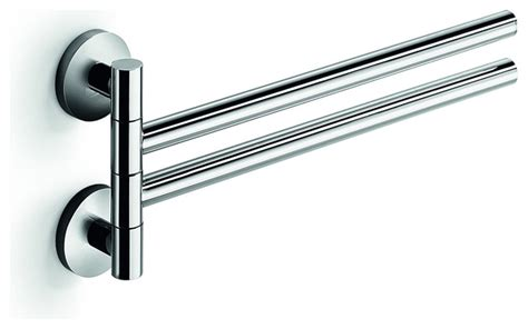 swing out towel bar lb napie double swing out towel bar with 2 folding arms