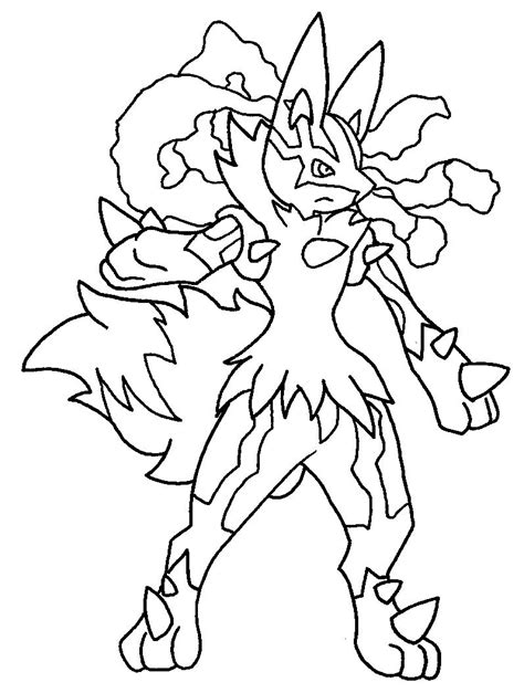 pokemon coloring pages mega lucario mega lucario lineart by tanbla lineart pokemon