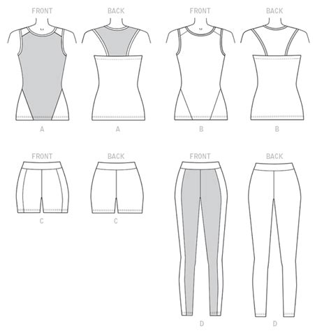 sewing pattern mens leggings kwik sew sewing pattern 4163 misses workout tops shorts