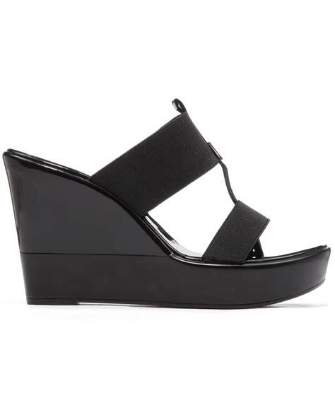 Wedges On 02 2 lyst bcbgeneration quinton platform wedge sandals in black