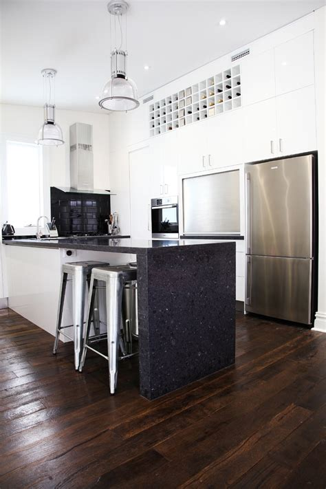 kitchen bench surfaces caesarstone quot black rocks quot for kitchen benchtops no