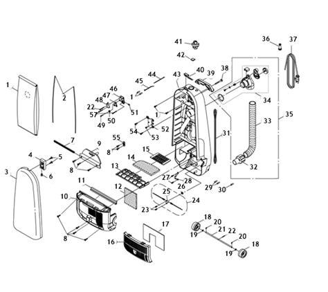 riccar  parts vacuum repair diagrams