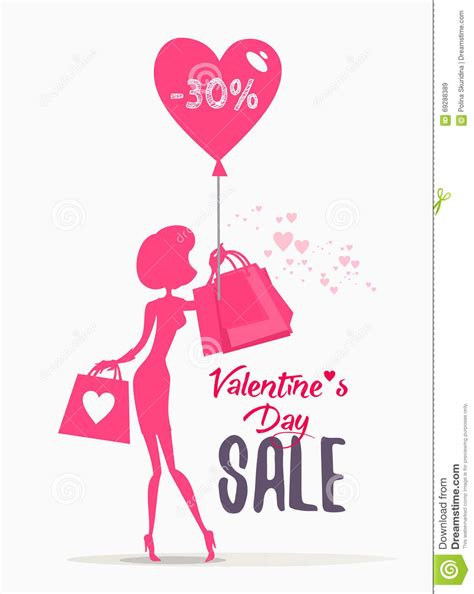 s day shopping s day sale banner with holding shopping