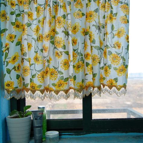 sunflower curtain sunflowers kitchen window curtain bathroom curtain