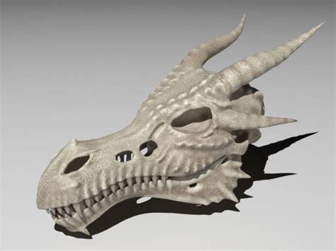 asset dragon skull cgtrader