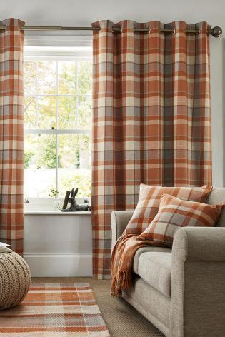 Ginger Rustic Woven Check Eyelet by 17 Best Ideas About Blinds Curtains On Pinterest Diy