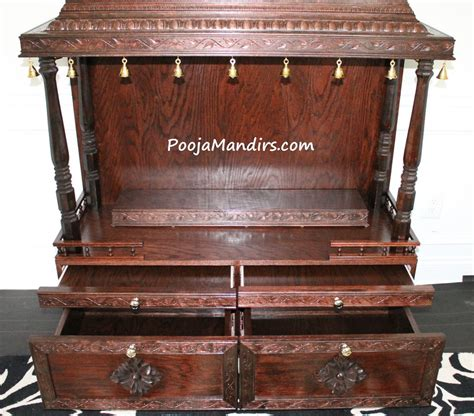 pooja mandirs usa ashvini collection open model pooja mandir pooja mandir drawer design