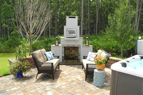 creative design space outdoor fireplaces firepits
