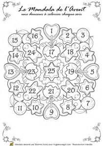 Calendrier De L Avent En Anglais à Colorier Coloriage Dessin Mandala Calendrier De L Avent 224