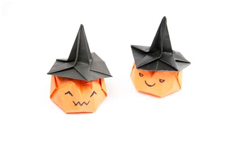 How To Make A Paper Witch Hat - how to make an origami witch hat