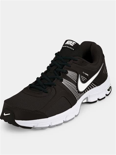 black nike mens running shoes nike air retaliate 2 mens running shoes in black for