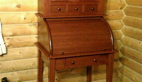 roll top desk  hutch woodworking blog
