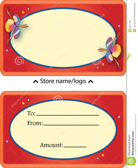 gift card certificate stock illustration image of