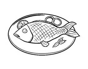 Fish Plate Coloring Pages Sketch Page sketch template