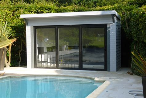 bespoke pool houses with shower and wc custom built