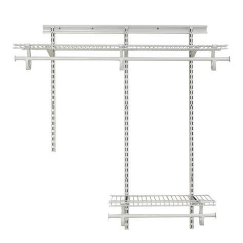 Closetmaid 2 Ft Wire Shelf Closetmaid Shelftrack 2 Ft 4 Ft White Wire Closet