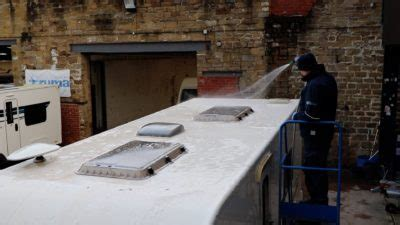 handled squeegee for solar panels how to clean your caravan roof caravan guard