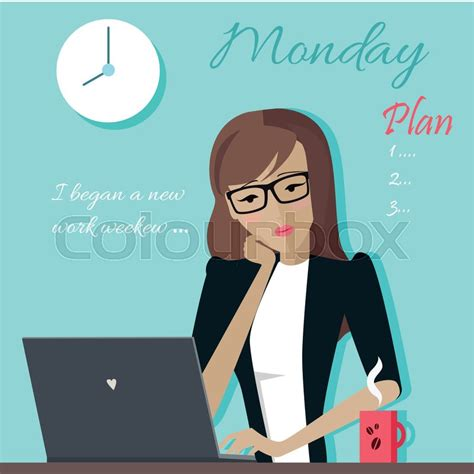 How To Organize Your Home Office monday working day woman planning her work for a week