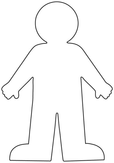 blank person coloring page snap cara org