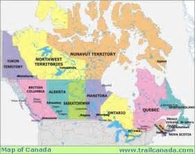 province of canada map canada maps trail canada