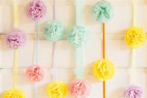 Easy Wedding Backdrop by Colorful And Easy Diy Pom Pom Wedding Backdrop Weddingomania