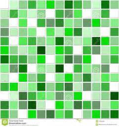 Square mosaic ceramic tiles in white and shades of green