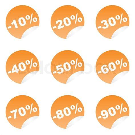Set Of 9 Sticker set of 9 orange sale stickers stock vector colourbox