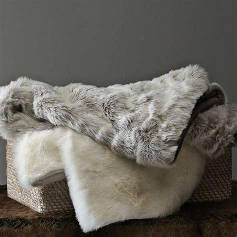 faux fur bed throw faux fur throw lynx west elm