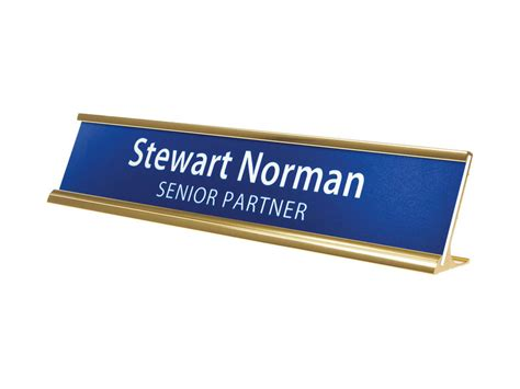 single sided desk name plates