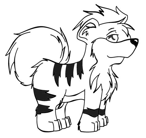 pokemon coloring pages growlithe free coloring pages of pokemon growlithe