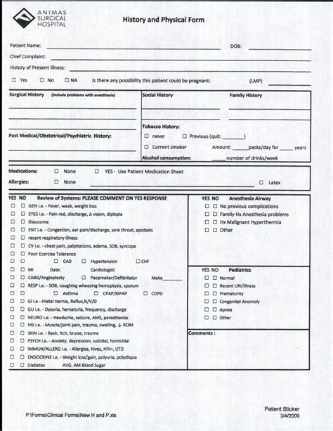history physical template durango pediatric dentistry treatment forms consents