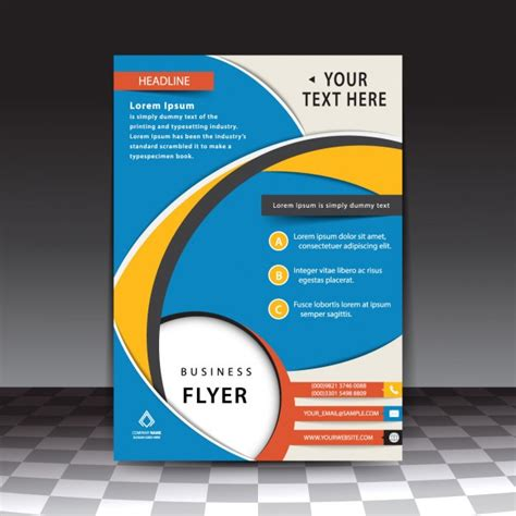 Blue Professional Flyer Template Vector Free Download Blue Flyer Template