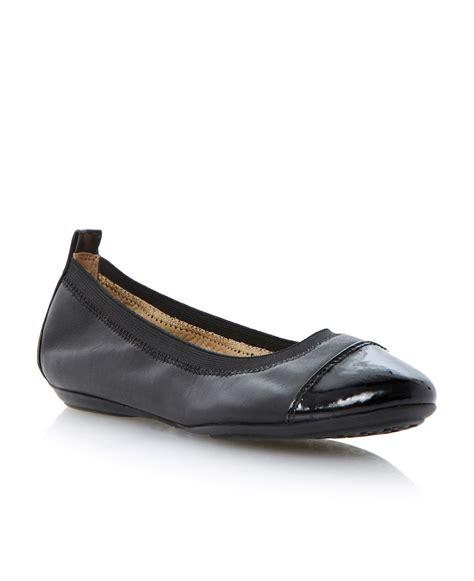 geox flat shoes geox charlene leather flat toe ballerina shoes in