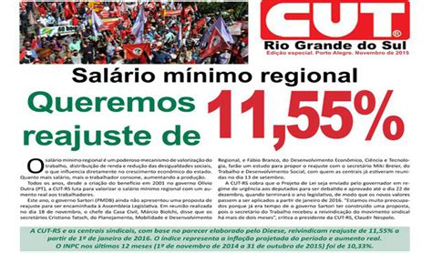 salario regional do rs 2016 jornal da cut rs refor 231 a canha do sal 225 rio m 237 nimo