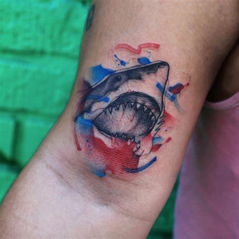 watercolor tattoos georgia 50 fantastic shark tattoos that are better than shark week