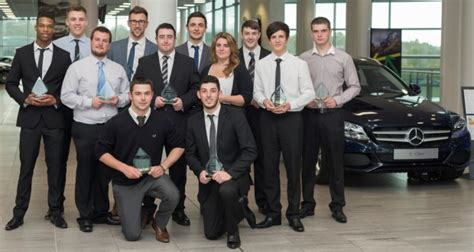 Motor Trade Jobs London by Mercedes Benz Awards Top Apprentices In Retail Network