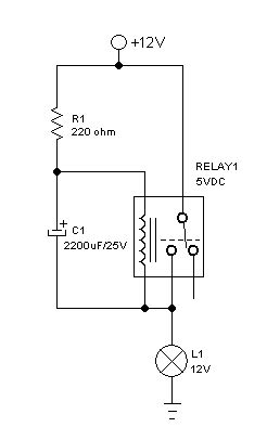 capacitor flasher circuit simplest relay flasher circuit with better stability deeptronic