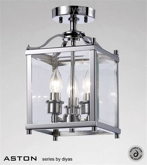 Ceiling Lantern Light Fixtures by Il31100 Aston 3 Light Chrome Ceiling Lantern From Lights 4