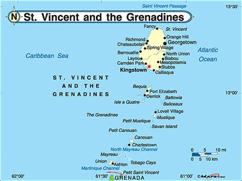 st vincent grenadines map st vincent the grenadines political map by maps