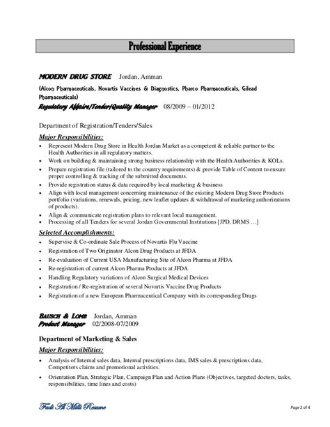 Pharmaceutical Regulatory Affairs Resume Sle pharmaceutical regulatory affairs resume sle 28 images