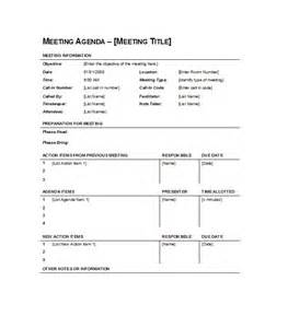 free agenda templates for meetings 51 effective meeting agenda templates free template