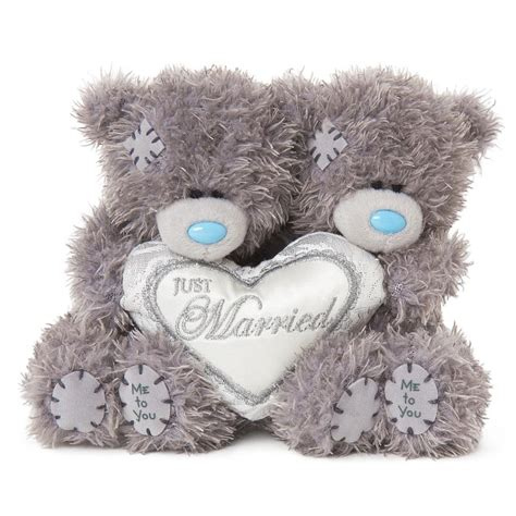 wedding bears 2 x 4 quot just married padded me to you wedding bears