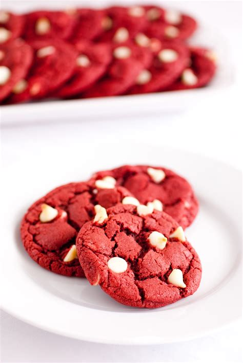velvet cookies for s day cooking velvet white chocolate chip cookies