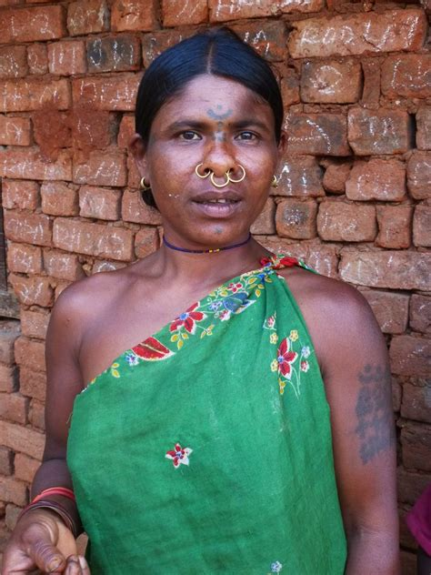 wonderful tattoos orissa tribal village india travel