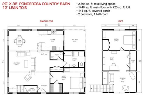country barn plans floor plan pre designed ponderosa country barn home kit
