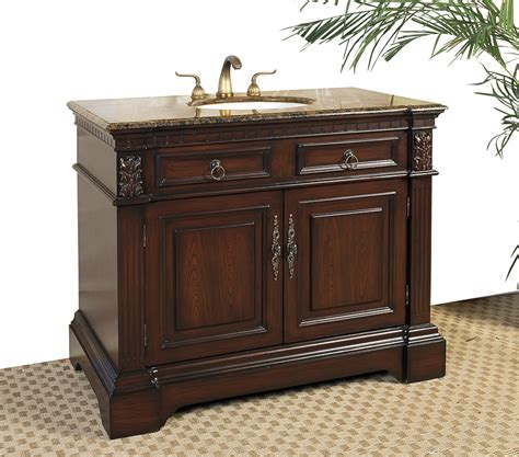 42 bath vanity cabinet 42 inch marble top bathroom vanity cherry in bathroom