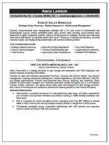 sales and marketing manager resume sle resume writing