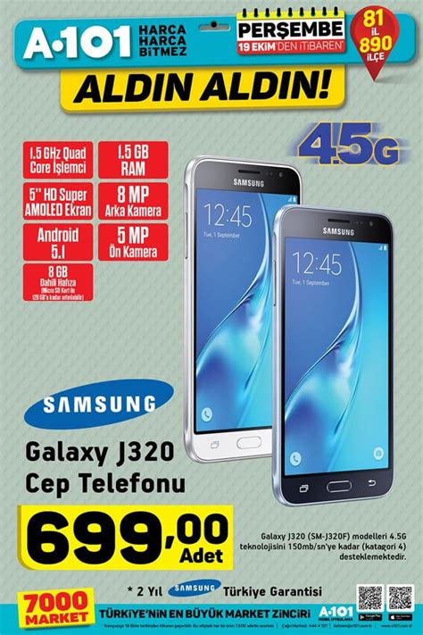 Samsung J A101 by A101 19 Ekim 2017 Samsung Galaxy J320 Cep Telefonu